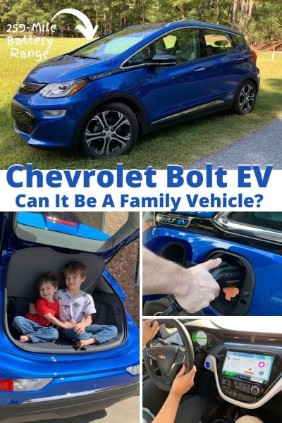 2020 Chevrolet Bolt EV Review: See if the Chevy Bolt passes as a family car option and 5 things you need to know before switching to an electric vehicle. #BoltEV #ChevroletReview #Chevrolet #CarReview #DriveElectric