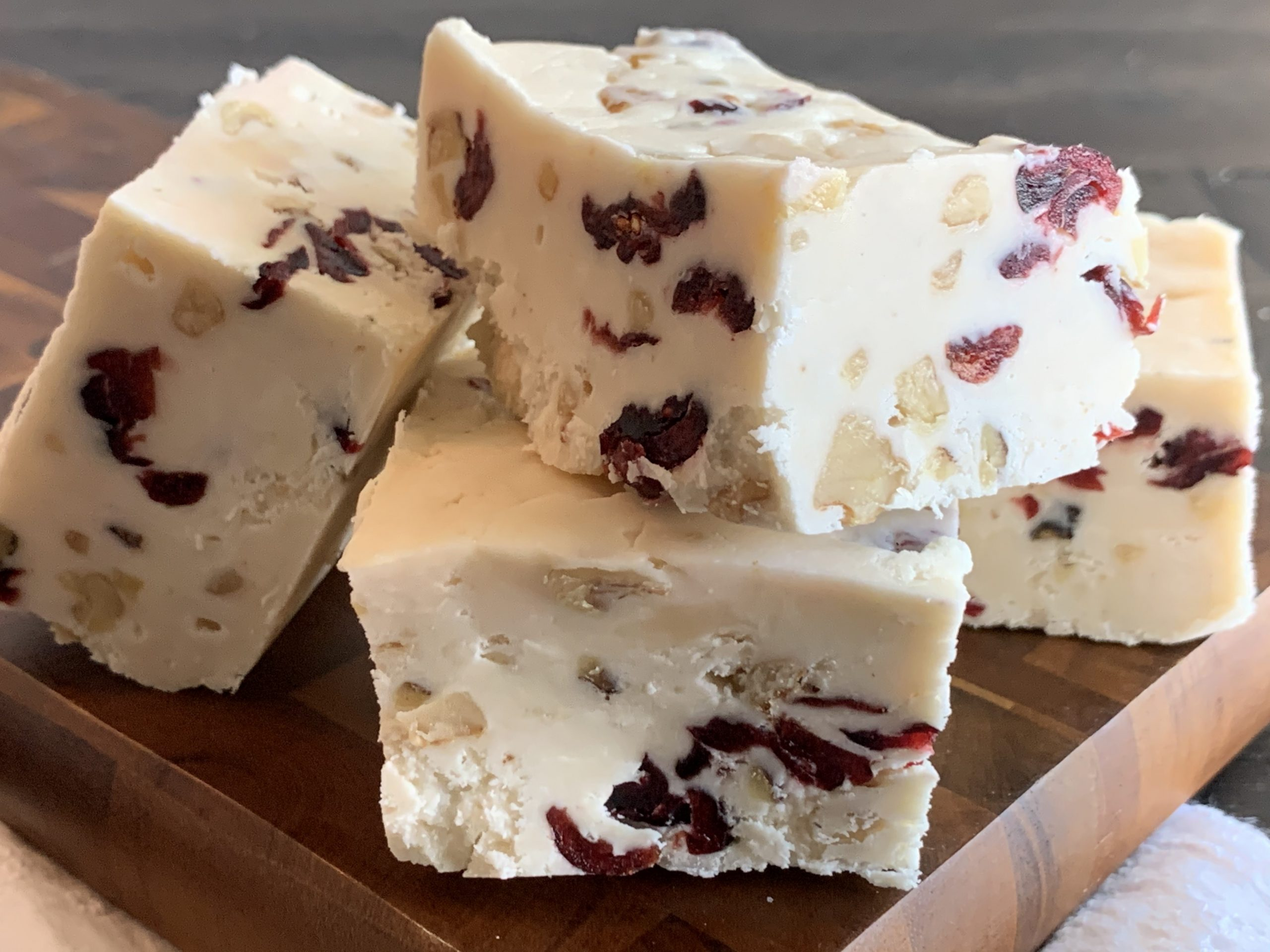 White Chocolate Cranberry Walnut Fudge Recipe