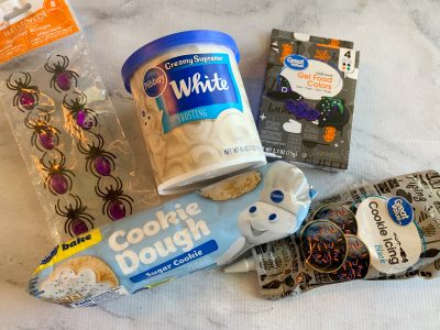 Ingredients for Halloween Cookie Cake Recipe