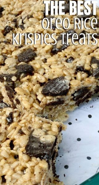 If you're a fan of Cookies-and-Cream flavor, you've got to try these EASY Oreo Rice Krispies Treats dessert! It's a twist on the classic with only 5 ingredients. #RiceKrispies #Oreo #OreoRecipes #Dessert #KidsDessert