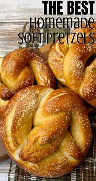 Baked perfectly golden on the outside, with kosher salt, and soft on the inside, this homemade soft pretzels recipe is a winner! #HomemadePretzels #SoftPretzelsRecipe #GameDayRecipe #Appetizer