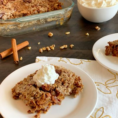 Stupid Easy Pumpkin Dump Cake Recipe (With Spice Cake Mix)