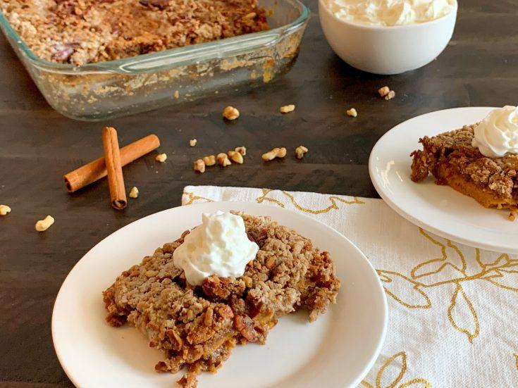 Pumpkin Dump Cake Recipe, Pumpkin Dump Cake With Spice Cake Mix