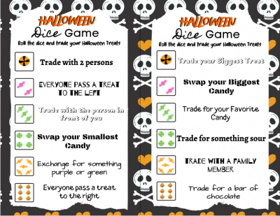 Halloween Party Game, Printable Halloween Party Game