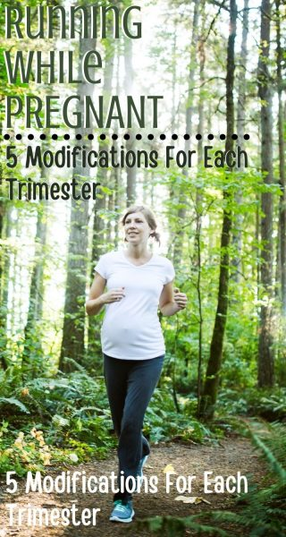 How to run while pregnant and 5 modifications to make each trimester. #RunningWhilePregnant #FitPregnancy #HealthyPregnancy