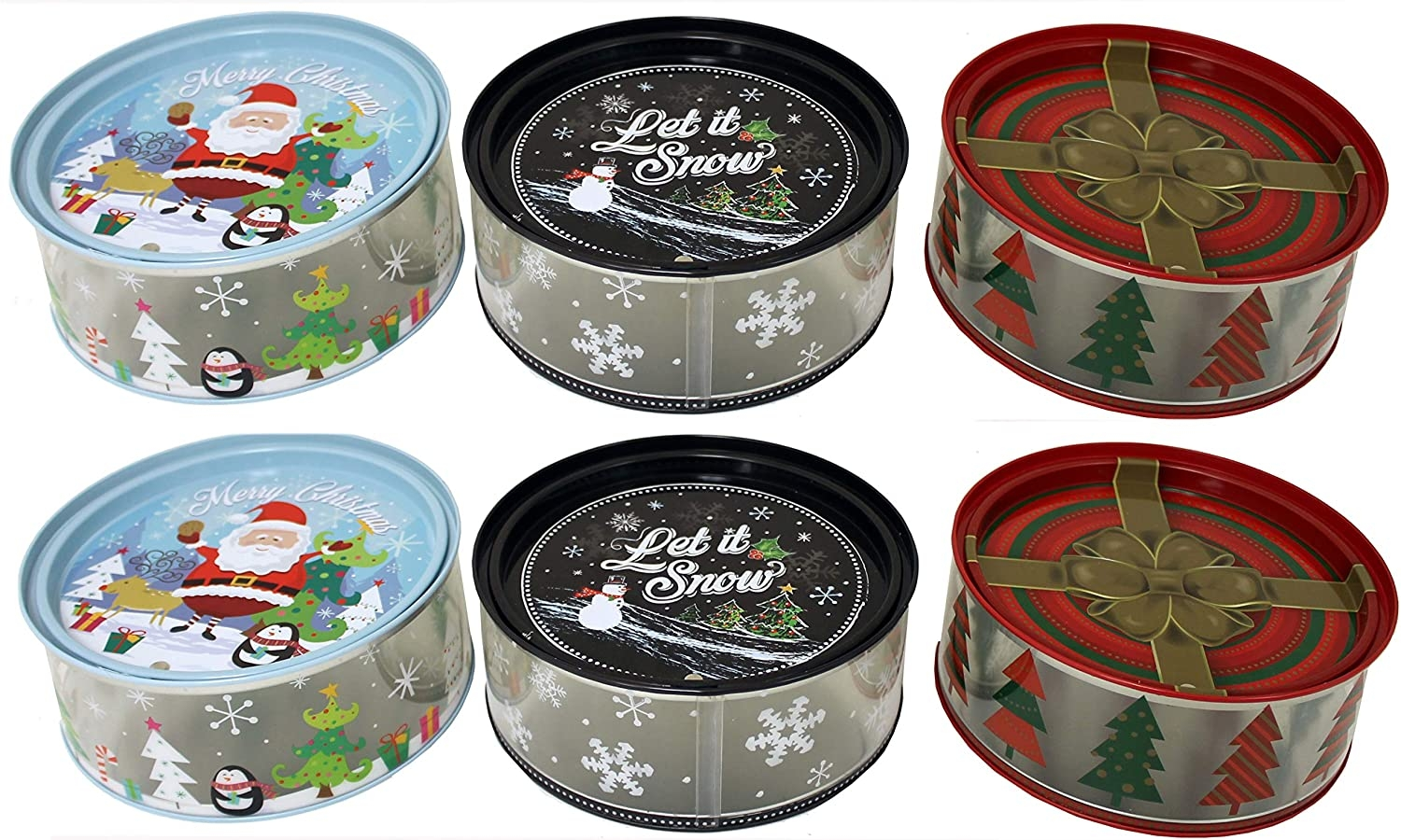 Holiday Clear Tins With Lid