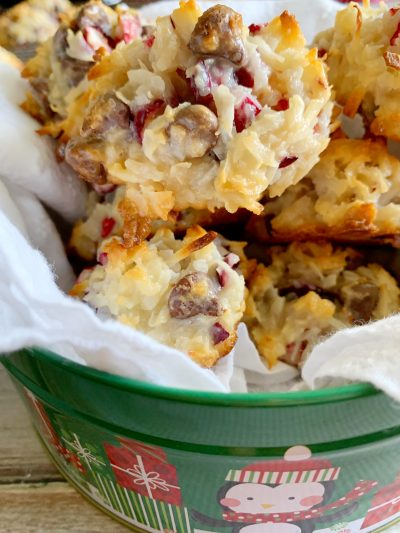 Homemade Christmas Cookies Recipe: Cranberry Chocolate Chip Coconut Macaroons Recipe