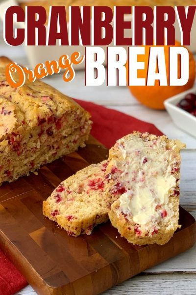 No yeast required for this Cranberry Orange Bread recipe! It's quick, full of flavor and very festive. Just add a bit of butter for an irresistible treat.