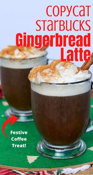 Christmas coffee doesn't get any better than this Starbucks Gingerbread Latte recipe! It's the BEST homemade version and you'll save money by being your own barista. #Starbucks #CopycatStarbucks #StarbucksRecipes #Gingerbread #GingerbreadRecipes