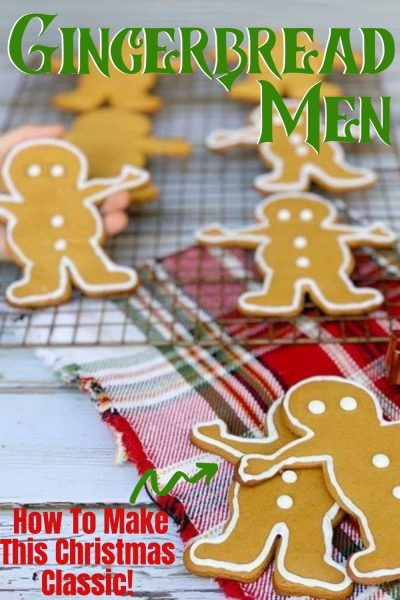 These Gingerbread Men Cookies are a Christmas classic! Spiced with molasses, cinnamon and ginger, they bake perfectly for icing! #ChristmasCookies #GingerbreadCookies #GingerbreadMenCookies #HolidayBaking