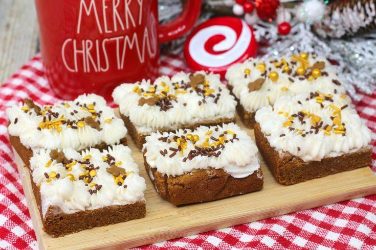 Easy Gingerbread Bars for Christmas