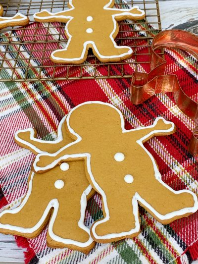 Finished Gingerbread Men Cookies Recipe