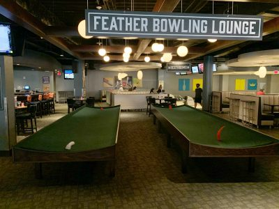 Feather Bowling At Splitsville Orlando