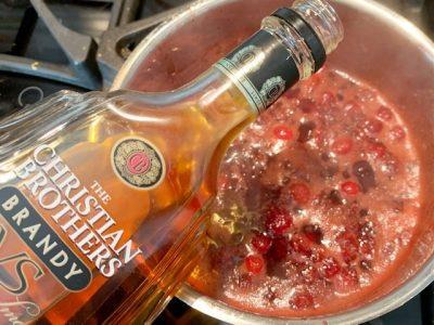 Adding Brandy To Cranberry Sauce