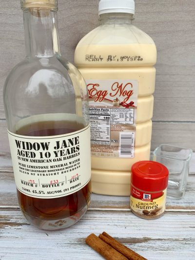 Bourbon Spiked Eggnog Ingredients For Cocktail