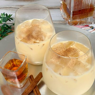 2-Minute Bourbon Spiked Eggnog Recipe (The EASY Way)