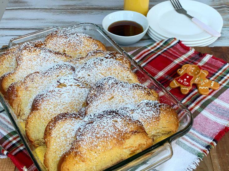 Overnight Eggnog French Toast Casserole Recipe