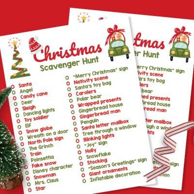 Free Printable Neighborhood Christmas Lights Scavenger Hunt