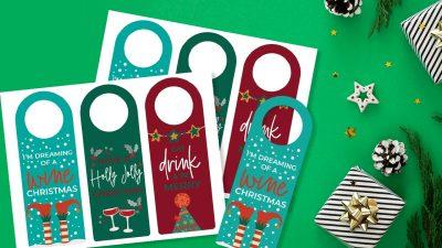 Printable Christmas Wine Tags