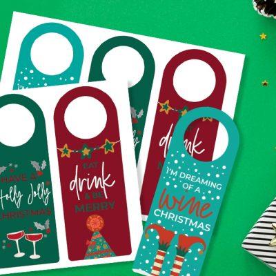 FREE Printable Christmas Wine Tags (EASIEST Gift Ever)