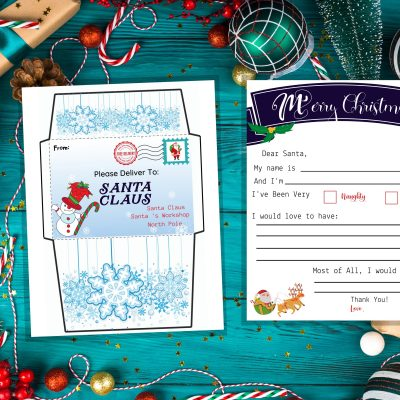 Free Christmas Printable: Template For Letter To Santa