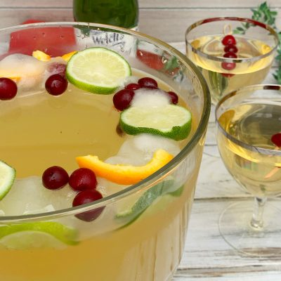 Party Perfect Non-Alcoholic Holiday Punch (With Festive Ice Ring)