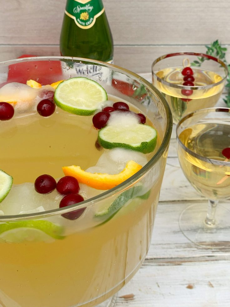 Non-Alcoholic Holiday Punch With Festive Ice Ring Recipe