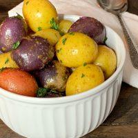 Lemon Butter Tri-Color Potatoes Recipe