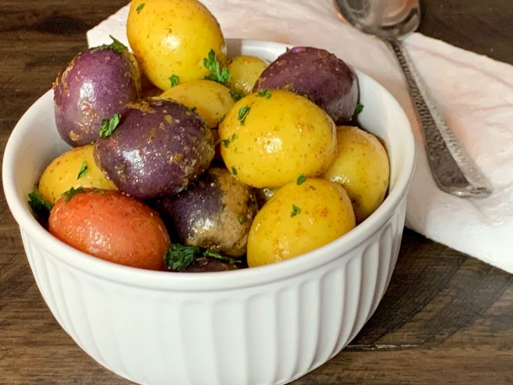 Lemon Butter Tri-Color Potatoes Recipe