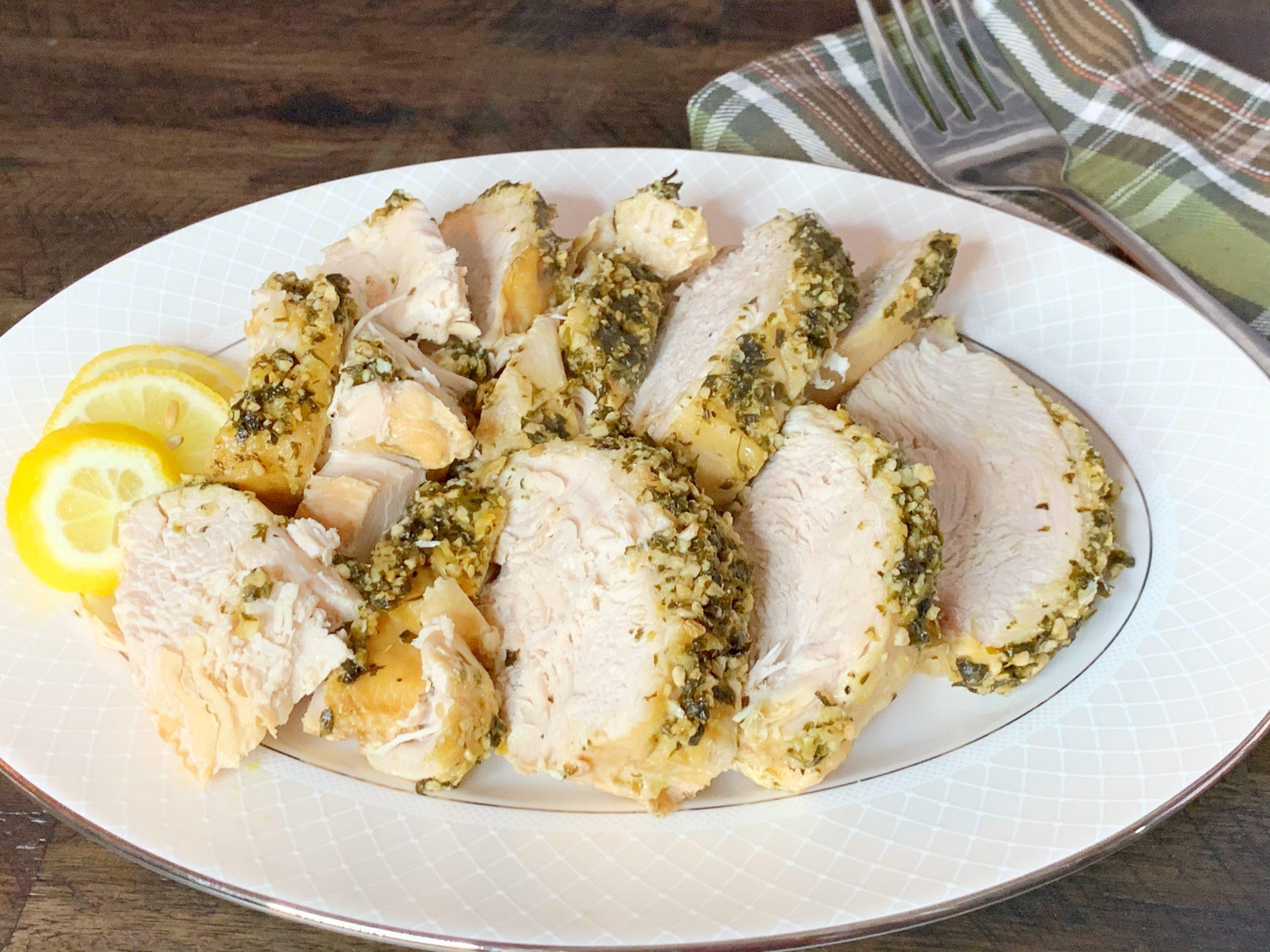 Boneless Lemon Garlic Slow Cooker Turkey Breast