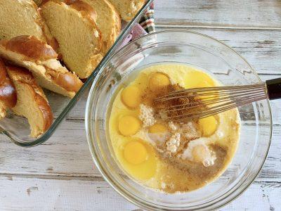 Whisking Eggnog French Toast Custard
