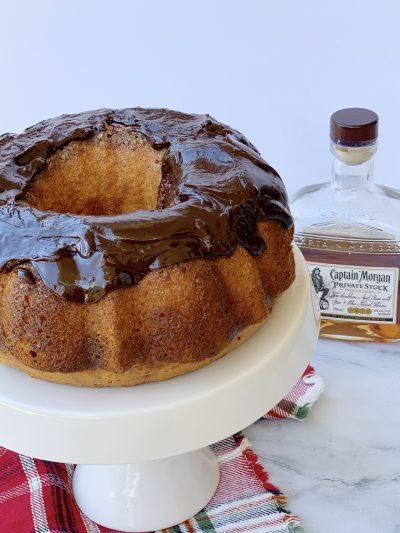 Bacardi Rum Cake With Chocolate Ganache Topping