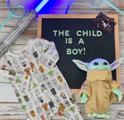 Star Wars Mandalorian Gender Reveal Announcement Idea