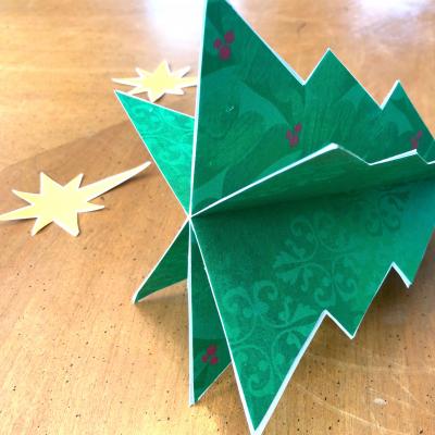 3D Christmas Tree Craft
