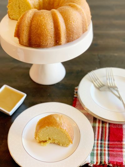 Pound Cake With Amaretto Glaze