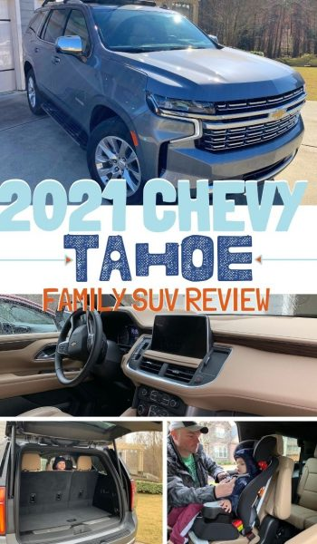Mom review of the 2021 Chevrolet Tahoe: See why it's an upgraded version of previous years and why it's made with large-size families in mind. #SUVReview #Tahoe #ChevroletTahoe #AutomotiveReview