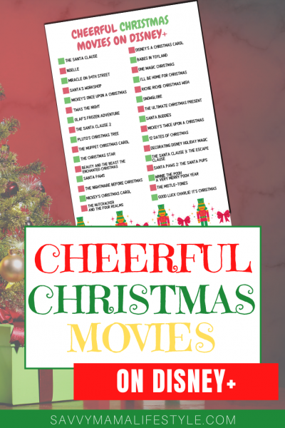The BEST Disney+ Christmas Movies to watch as a family in 2020. Print your FREE checklist and get streaming. #DisneyPlus #ChristmasMovies #Christmas