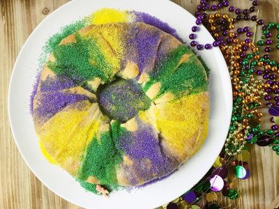 Finished King Cake With Pillsbury Crescent Rolls