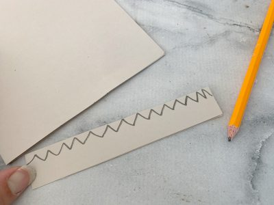 Making the teeth with cardstock