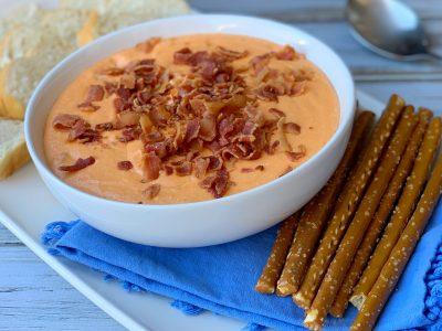 Hot Bacon Cheddar Slow Cooker Dip Recipe