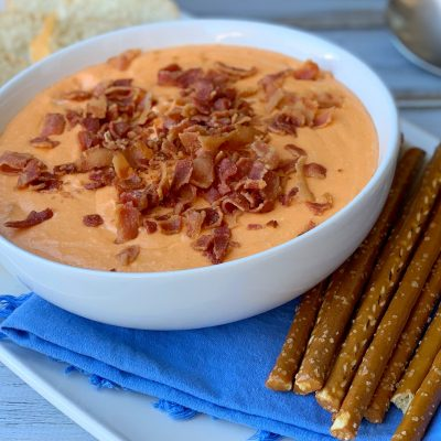 Bacon Cheddar Slow Cooker Dip Recipe (BEST Appetizer!)