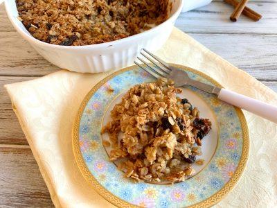 Oatmeal Raisin Breakfast Casserole