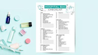 Free Printable Hospital Check List For Mom and Baby