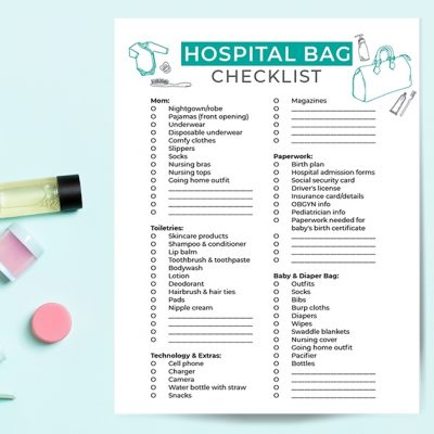 Pregnancy Printable Hospital Checklist For Mom & Baby