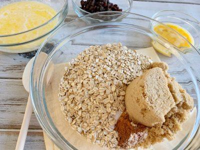 Oatmeal Raisin Breakfast Bake Casserole Ingredients