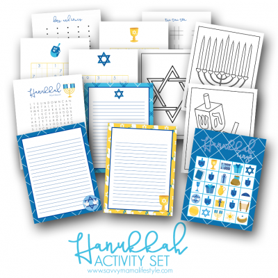 FREE Printable Hanukkah Coloring Pages & Bingo Game Cards