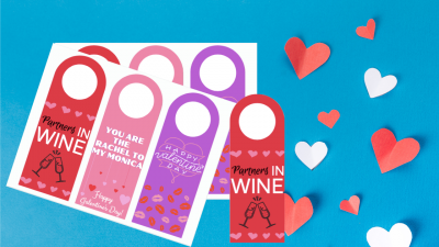 FREE Printable Valentine's Day Wine Tags