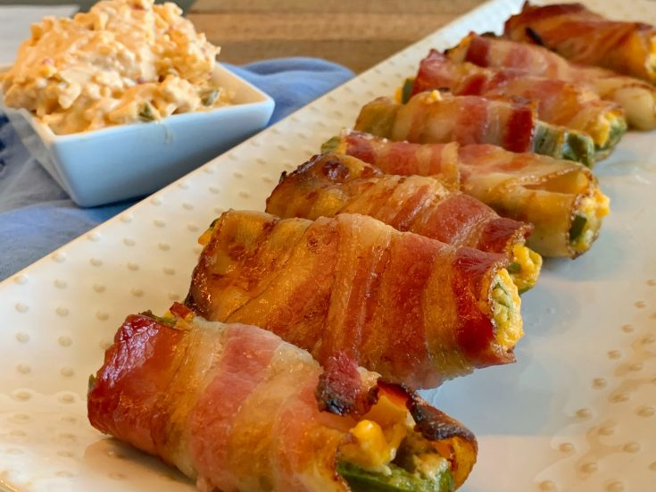 Bacon Wrapped Stuffed Jalepenos With Pimento Cheese