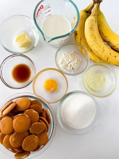 Baked Banana Pudding Ingredients
