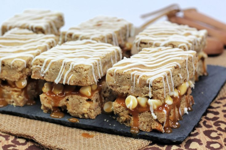 White Chocolate Caramel Blondies Recipe